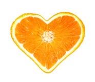 Amor anaranjado foto de archivo libre de regalías