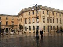 Amor bajo la lluvia Foto de archivo libre de regalías