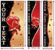 Amor/banderas del web del día de tarjeta del día de San Valentín libre illustration