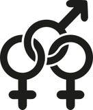 Amor bisexual de la muestra ilustración del vector