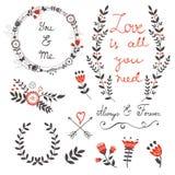 Amor bonito ajustado com Imagem de Stock Royalty Free