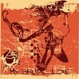 Amor brutal Fotografia de Stock Royalty Free