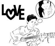 Amor cómico imagen de archivo libre de regalías