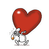 Amor carreg Fotografia de Stock