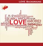 Amor - colagem da palavra Imagens de Stock Royalty Free