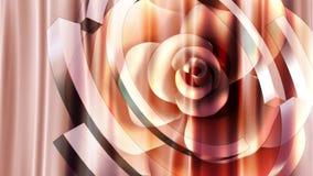 Amor color de rosa de la flor romántico libre illustration