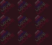 Amor colorido Fotografía de archivo libre de regalías