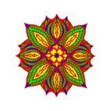 Amor colorido da mandala, dinheiro, sorte, em um fundo branco ilustração royalty free