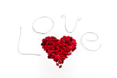 Amor com coração vermelho imagem de stock royalty free