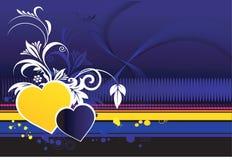 Amor com projetos florais ilustração do vetor