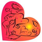 Amor con las palomas Imagen de archivo libre de regalías