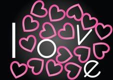 Amor con los corazones Imágenes de archivo libres de regalías