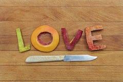 Amor con sabor a fruta Fotografía de archivo