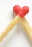 Amor conceptual de partidos Fotos de archivo