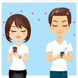 Amor conectado stock de ilustración