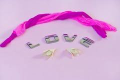 Amor cor-de-rosa Fotos de Stock
