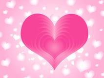 Amor cor-de-rosa Fotografia de Stock