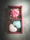 amor cor-de-rosa do Valentim do coração Fotos de Stock Royalty Free