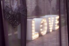 Amor, corazón, luz Foto de archivo libre de regalías