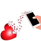Amor, corazón roto libre illustration
