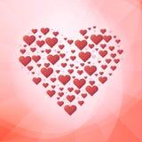 Amor, corazones, el día de tarjeta del día de San Valentín Imagen de archivo libre de regalías