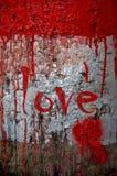 Amor - día de tarjeta del día de San Valentín Fotos de archivo
