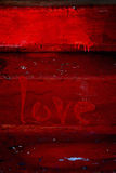 Amor - día de tarjeta del día de San Valentín Imagenes de archivo