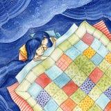 Amor da boa noite ilustração royalty free