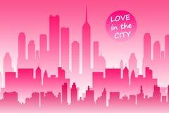 Amor da cidade Foto de Stock Royalty Free