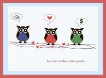 Amor da coruja Imagem de Stock