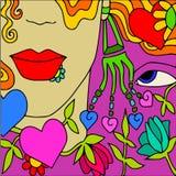 Amor da face ilustração royalty free