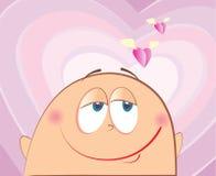 Amor da face do vetor. Símbolo dos desenhos animados do homem do amor ilustração do vetor