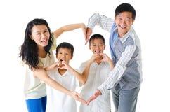Amor da família Fotografia de Stock Royalty Free