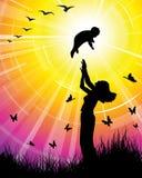 Amor da família - mulher e criança Fotografia de Stock Royalty Free