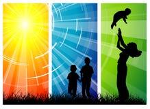 Amor da família - mulheres e suas crianças Imagem de Stock Royalty Free