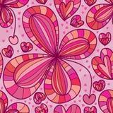 Amor da flor que deixa cair o teste padrão sem emenda Imagens de Stock Royalty Free