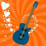 Amor da guitarra ilustração do vetor