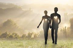 Amor da iluminação Fotografia de Stock Royalty Free