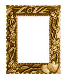 Amor da imagem do quadro isolado no fundo branco imagem de stock