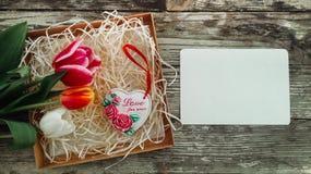 Amor da inscrição do coração da cerâmica para nunca Fotografia de Stock Royalty Free