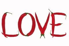 Amor da inscrição Imagem de Stock Royalty Free