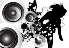 Amor da música ilustração royalty free