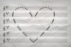 Amor da música de amor do conceito da música Imagem de Stock