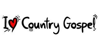 Amor da música de gospel do país ilustração royalty free