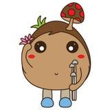 Amor da mascote do cogumelo natural Imagem de Stock Royalty Free