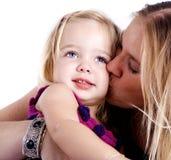 Amor da matriz e da filha Imagens de Stock Royalty Free