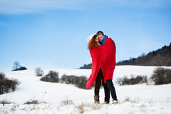 Amor da neve Foto de Stock Royalty Free