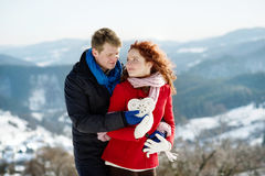 Amor da neve Fotos de Stock Royalty Free