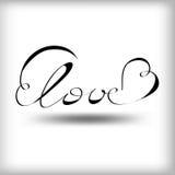 Amor da palavra ilustração royalty free