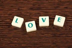 Amor da palavra Fotografia de Stock Royalty Free